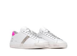 DATE Sneakers White Fuchsia