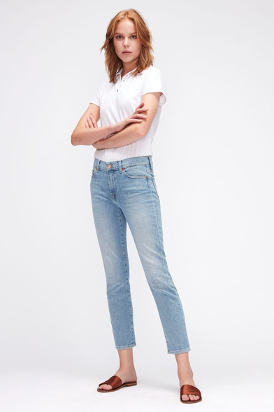 7 For All Mankind Roxanne Ankle Jeans Light Wash