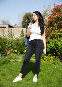 7 For All Mankind Cropped Black Jeans