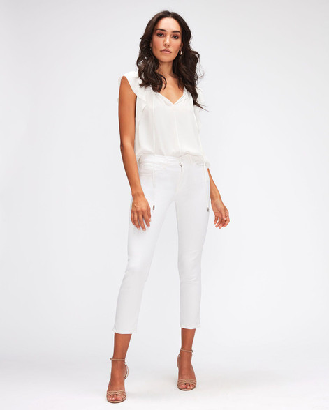 7 For All Mankind White Ankle Jeans