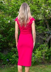 Chiara Boni Fiy Dress Cherry Red