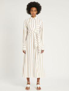 Sportmax Code Striped Cotton Poplin Dress