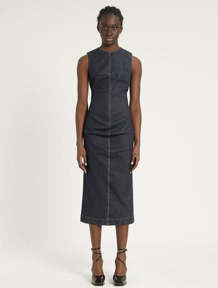 Sportmax Code Stretch Denim Dress