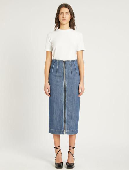 Sportmax Code Midi Denim Skirt