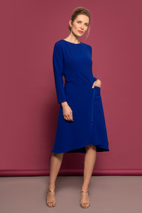 Caroline Kilkenny AW21 Cobalt Blue Navy Dress