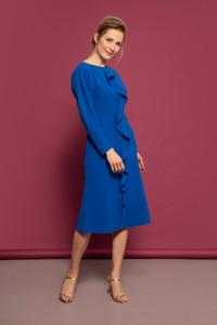 Caroline Kilkenny Midi Blue Dress