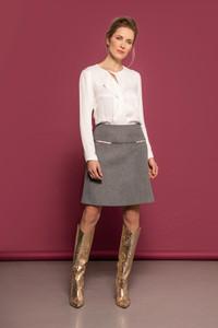 Caroline Kilkenny AW21 Grey Short Skirt