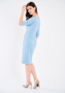 Fee G Festive Glitter Dress Pale Blue