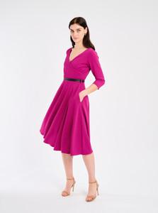 Fee G Fit and Flare Dress Fuchsia