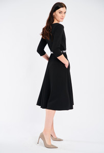 Fee G Black Fit and Flare Dress