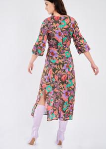 Fee G Floral Print Midi Dress