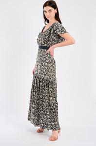 Fee G Black and White Splatter Maxi Dress