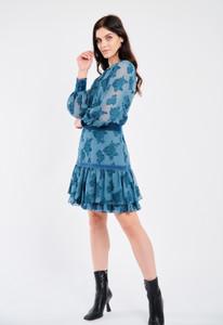Fee G Short Monochrome Teal Dress