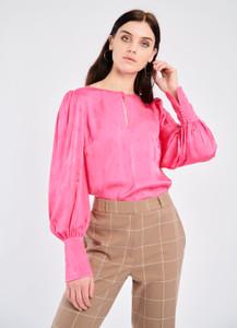Fee G Pink Jacquard Blouse