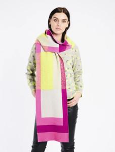 Fee G Colour Block Knit Scarf