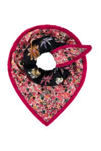 POM Amsterdam Double Flower Triangle Scarf
