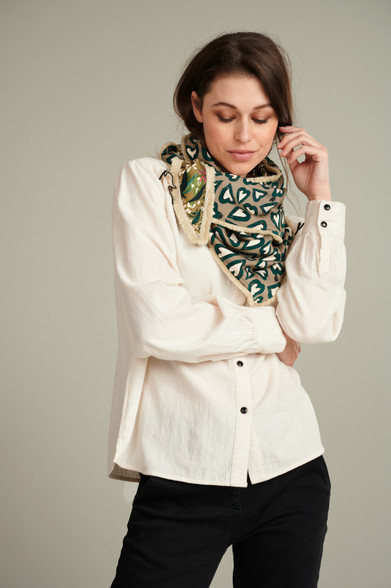 POM Amsterdam Hearts and Florals Double Scarf