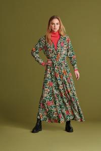POM Amsterdam Long Floral Shirt Dress