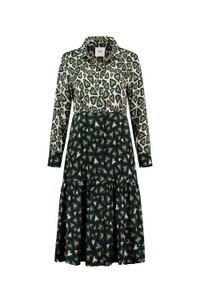 POM Amsterdam Midi Hearts Print Dress
