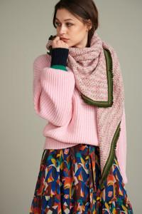 POM Amsterdam Pink Tweed Scarf