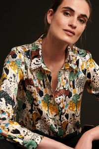 POM Amsterdam Panther in the City Print Blouse
