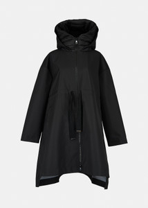 Essentiel Antwerp Oversize Black Rain Coat
