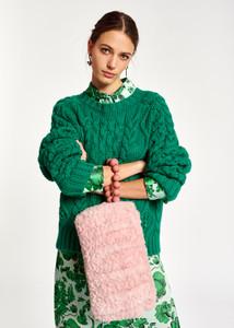 Essentiel Antwerp Green Cable Knit Jumper