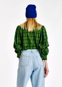 Essentiel Antwerp Checked Green Flannel Shirt