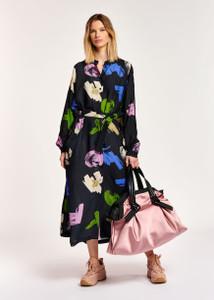 Essentiel Antwerp Dark Abstract Print Midi Dress