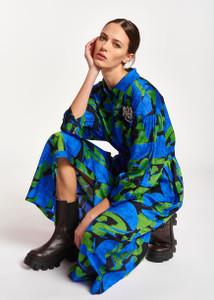 Essentiel Antwerp Abstract Print Midi Dress