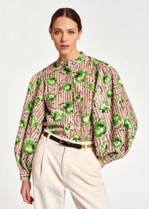 Essentiel Antwerp Green Puff Sleeve Top