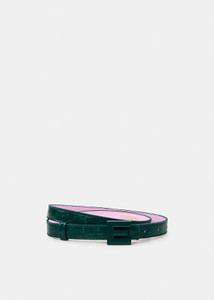 Essentiel Antwerp Green Croc Effect Belt