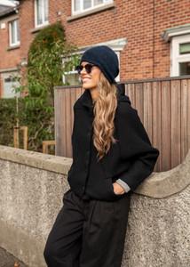 Transit Par Such Batwing Black Wool Jacket