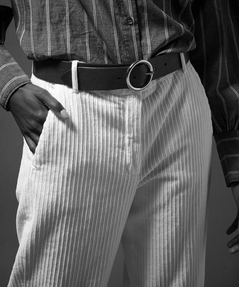 Hartford Black Leather Belt