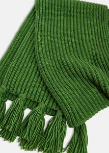 Essentiel Antwerp Chunky Knit Long Green Scarf