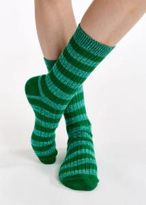 Essentiel Antwerp Green Striped Socks