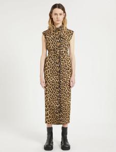 Sportmax Leopard Print Sleeveless Dress
