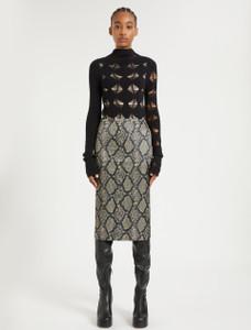 Sportmax AW21 Satin Snake Print Skirt