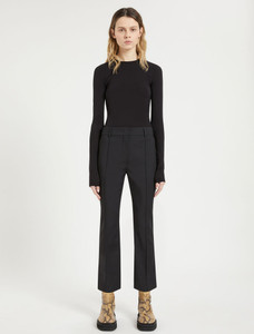 Sportmax AW21 Cropped Ribbed Trousers