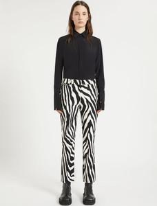 Sportmax Zebra Print Cropped Trousers