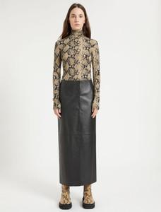 Sportmax Nappa Leather Long Skirt