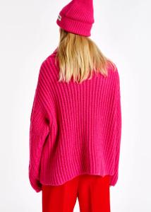 Essentiel Antwerp Pink Chunky Knit Jumper