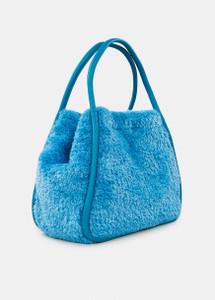 Essentiel Antwerp Blue Faux Fur Shopper Bag