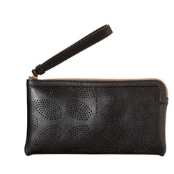 Orla Kiely Sixties Flat Zip Purse black