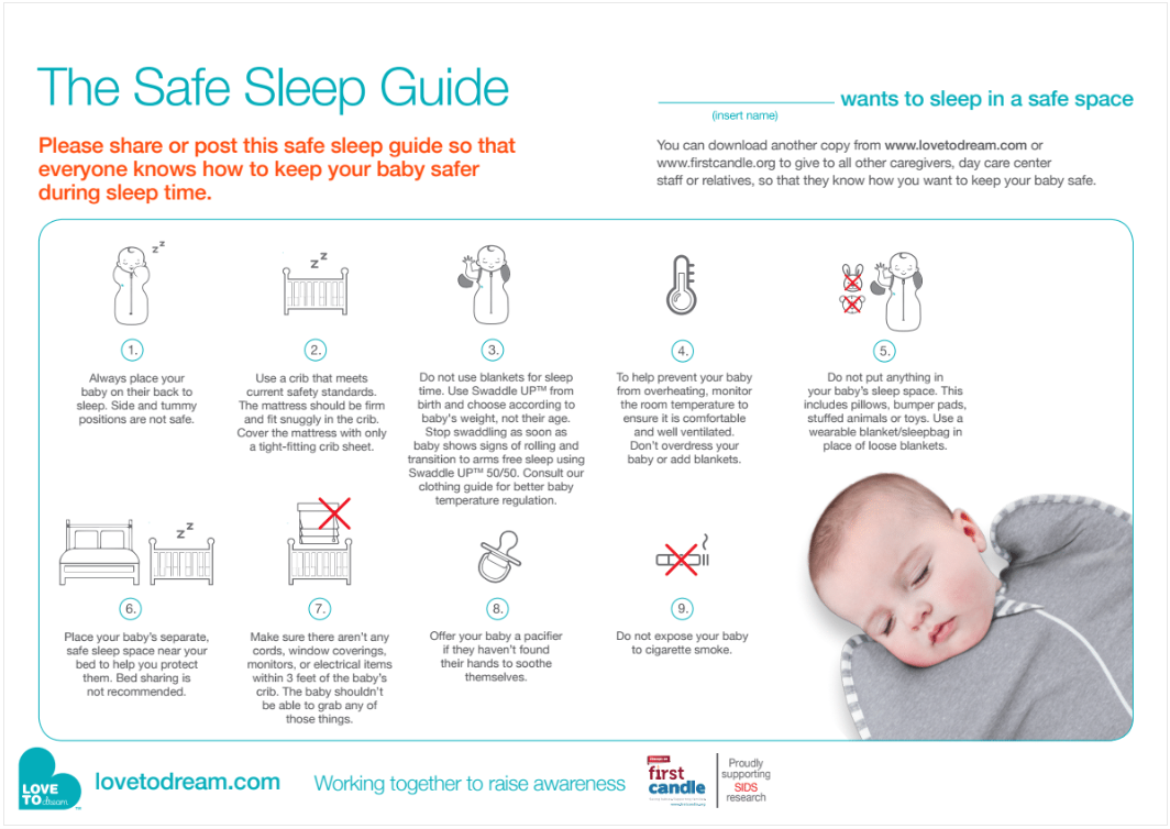 Safe Sleep Guidelines Love To Dream Usa