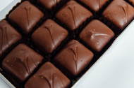 Milk chocolate carmels in box