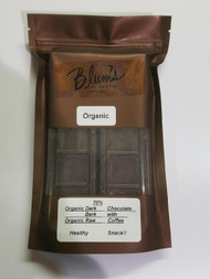 Blum's 70% Organic Dark Chocolate Bark w/ Organic Raw Coffee