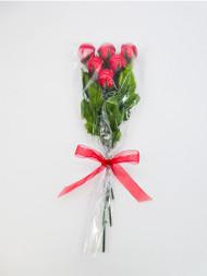 """*Bouquet of a Half Dozen Milk Chocolate Roses*"""