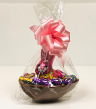 10oz Milk Chocoloate Easter Basket (Pink Bow)