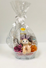 Sugar Free Wired Bunny Shaped Basket (White)